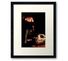 well that's that then Framed Print