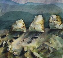 Watercolour: Goulburn Boulders by Marion Chapman