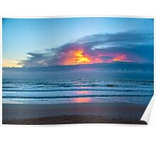 Fire in the Morning Sky Poster