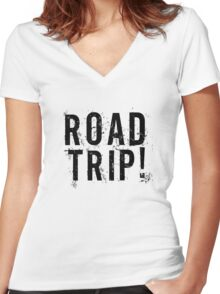 Road Trip Random Grunge Punk Holliday Women's Fitted V-Neck T-Shirt