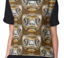 Gold and Silver Abstract Digital Design Chiffon Top