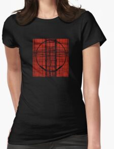 Circle Plaid Womens Fitted T-Shirt