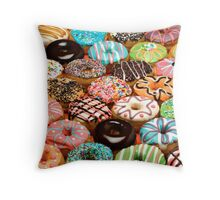 Every one loves donuts! Throw Pillow