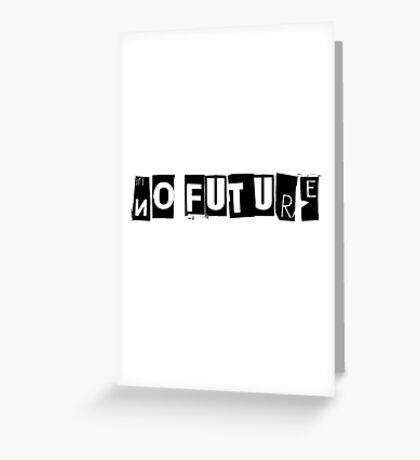 No Future Pretty Vacant The Sex Pistols Song Lyrics Greeting Card