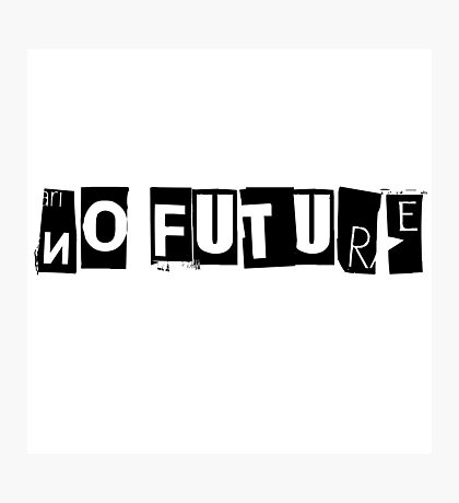 No Future Pretty Vacant The Sex Pistols Song Lyrics Photographic Print