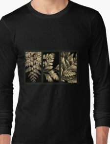 Gold Leaf Triptych Long Sleeve T-Shirt