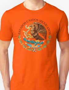 Close up of seal in the national flag of Mexico Unisex T-Shirt