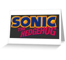 SEGA Sonic the Hedgehog LOGO Greeting Card