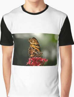Butterfly On Plant Graphic T-Shirt