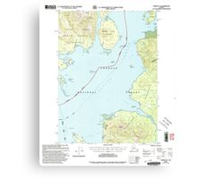 USGS TOPO Map Alaska AK Craig D-1 355312 2000 63360 Canvas Print