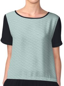 turquoise paper Chiffon Top