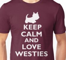Keep Calm and Love Westies (white) Unisex T-Shirt