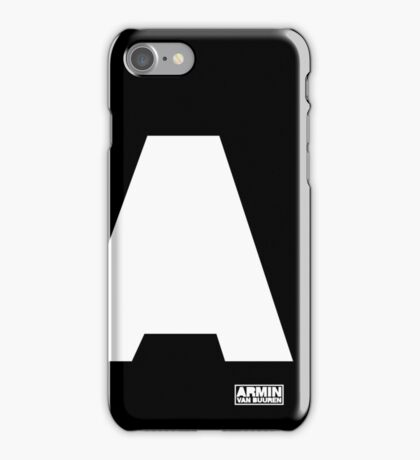 Amin Van Buuren logo A white - shirt - state of trance iPhone Case/Skin