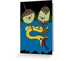 adventure time rock shirt Greeting Card