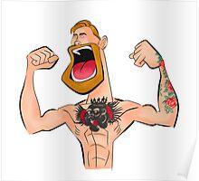 Conor McGregor  Cartoon Poster