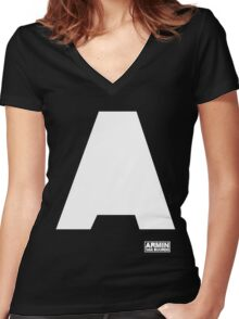 Amin Van Buuren logo A white - shirt - state of trance Women's Fitted V-Neck T-Shirt