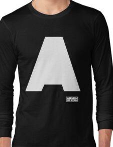 Amin Van Buuren logo A white - shirt - state of trance Long Sleeve T-Shirt