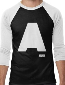 Amin Van Buuren logo A white - shirt - state of trance Men's Baseball ¾ T-Shirt