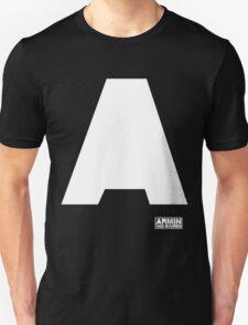 Amin Van Buuren logo A white - t-shirt - trance - state of trance - festival - tomorrowland - new Unisex T-Shirt