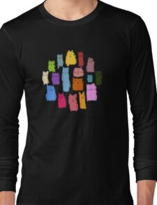 Colorful funny cats Long Sleeve T-Shirt