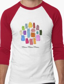 Colorful funny cats Men's Baseball ¾ T-Shirt