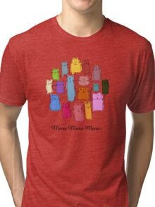 Colorful funny cats Tri-blend T-Shirt