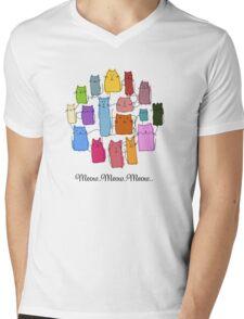 Colorful funny cats Mens V-Neck T-Shirt