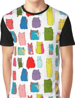 Colorful funny cats Graphic T-Shirt