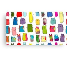 Colorful funny cats Canvas Print