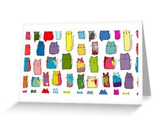 Colorful funny cats Greeting Card