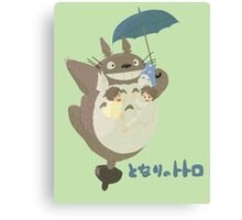 Totoro on Top  Canvas Print
