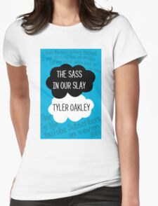 The Sass In Our Slay Tyler Oakley Womens Fitted T-Shirt