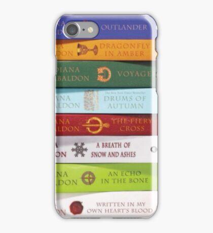 Stack of Outlander books/Diana Gabaldon iPhone Case/Skin
