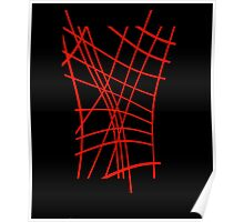 Red neon lines Poster