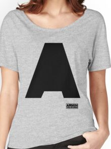 Amin Van Buuren logo A black - shirt - state of trance Women's Relaxed Fit T-Shirt