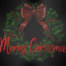 Merry Christmas Wreath by Kristi Nobers