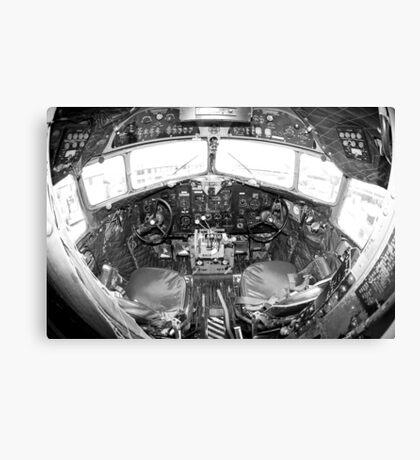 Vintage Cockpit Canvas Print