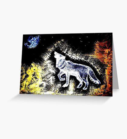 Wolf Spirit Beautiful Greeting Card
