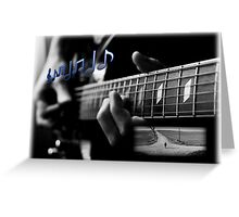 Blues Notes Greeting Card