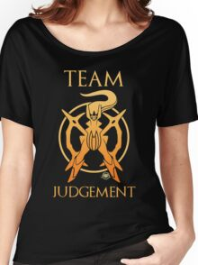 Team Judgement - Black Women's Relaxed Fit T-Shirt