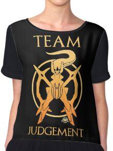 Team Judgement - Black Chiffon Top