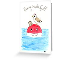 Buoy Meets Gull Greeting Card