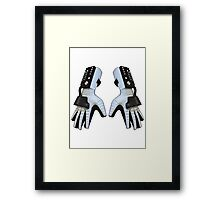 Power Gloves Framed Print