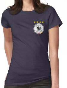 Germany Soccer European Football Crest Womens Fitted T-Shirt