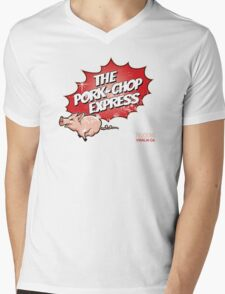Pork Chop Express - Distressed Variant 2 Mens V-Neck T-Shirt