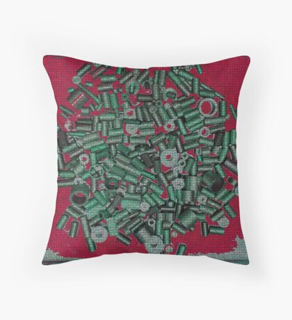 Random Two Red Throw Pillow