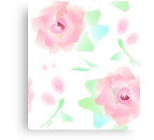 Rose Garden Floral Pat Canvas Print