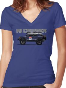 FJ Cruiser Women's Fitted V-Neck T-Shirt