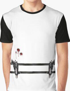 GUN BELT AND BULLET HOLES Graphic T-Shirt