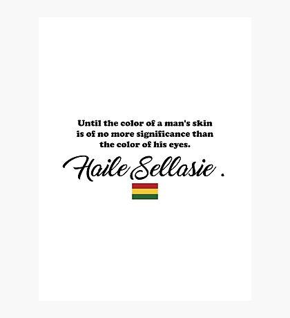 Haile Selassie/ Bob Marley Photographic Print